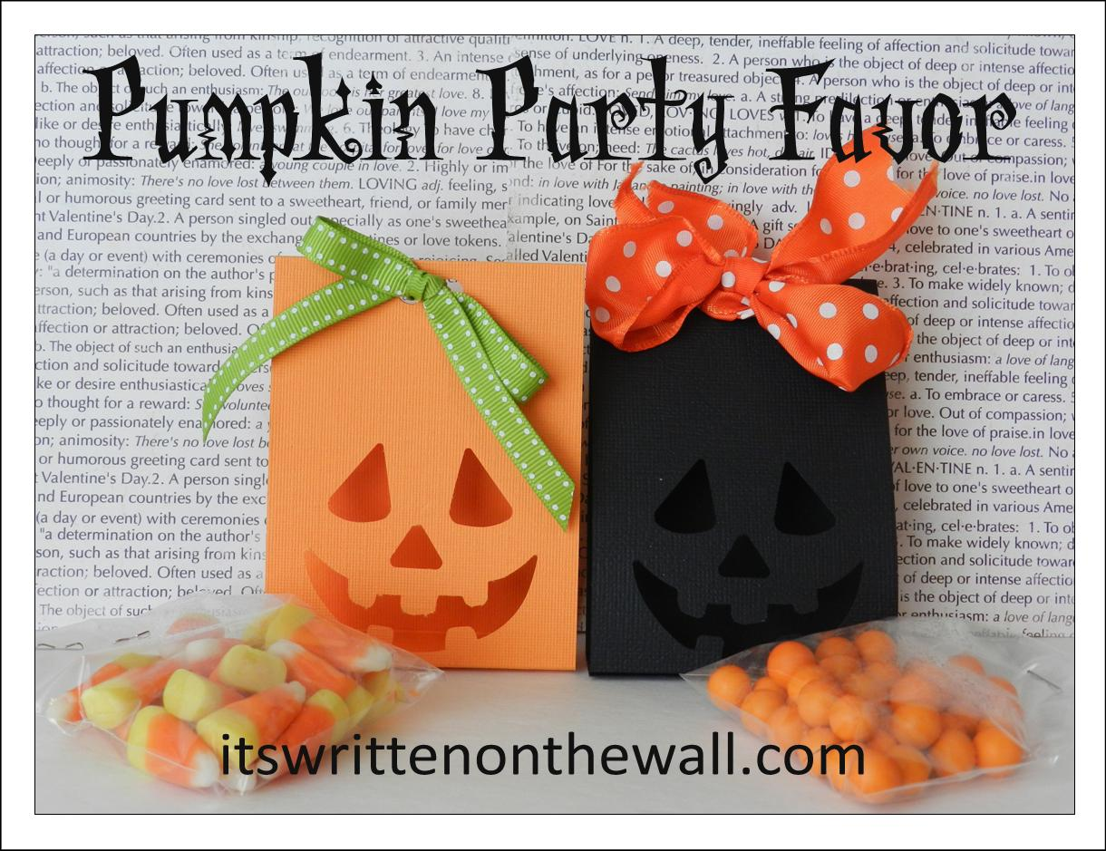 It's Written on the Wall: (Part 1) Halloween Pumpkin Party Favor ...