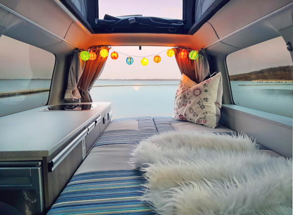 how to build the walls and ceiling of a converted cargo van
