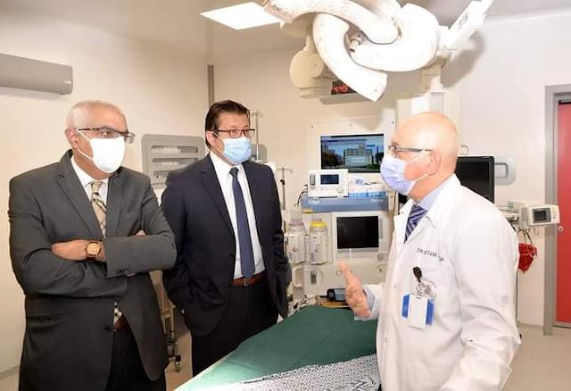 افتتاح تحديث وتجديد جناح العمليات بمركز جراحة الكلى والمسالك البولية بجامعة المنصورة