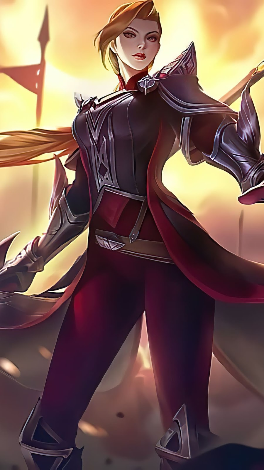 Wallpaper Silvanna Hallowed Lance Skin Mobile Legends HD for Android and iOS