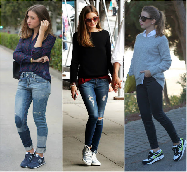 look confortavel casual com tenis para beauty fair
