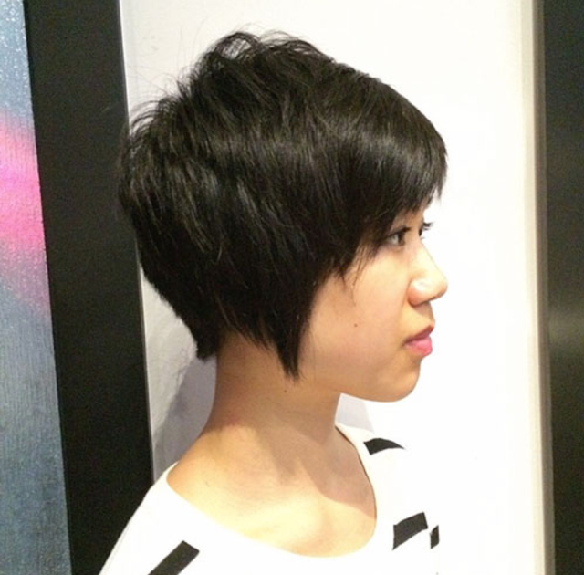 short haircut with bangs 2020
