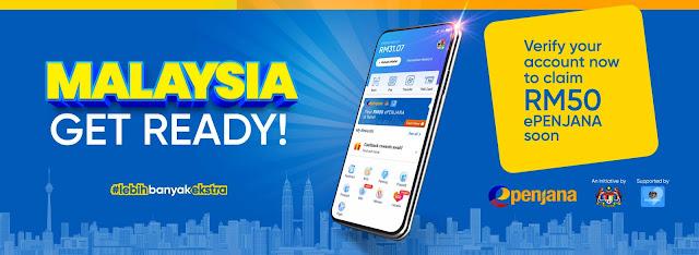 Cara Mohon dan Tebus Kredit RM50 ePENJANA Menggunakan Touch 'N Go eWallet