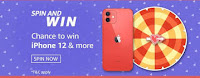 Amazon Valentines Carnival Spin and Win iPhone 12 on 07-Feb-2021