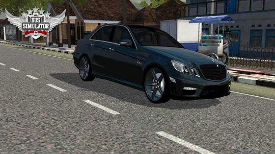 Mod Mobil BUSSID Mercedes Benz E63 AMG Full Anim