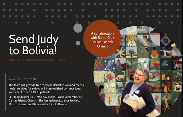 Send Judy to Bolivia!