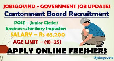 Cantonment Board Recruitment 2021