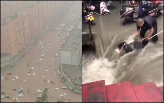 Banjir di Zhengzhou China Akibatkan 12 Orang Meregang Nyawa