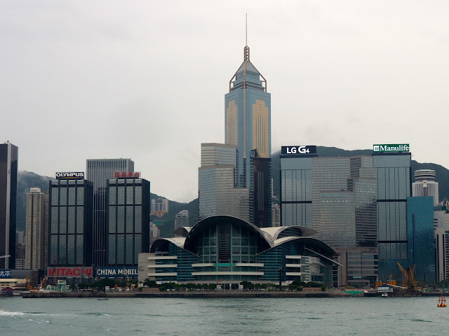 View of Exhibition Centre & Hong Kong skyline from TST, Kowloon
