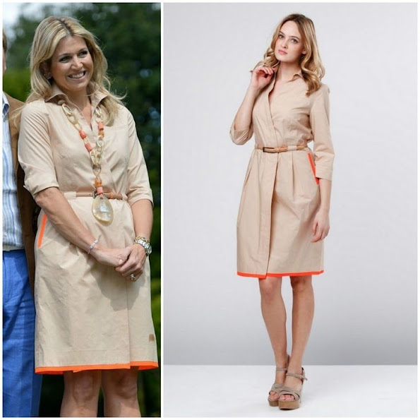 Dutch Queen Maxima wore Natan Belted Cotton Dress. Style of Queen Maxima