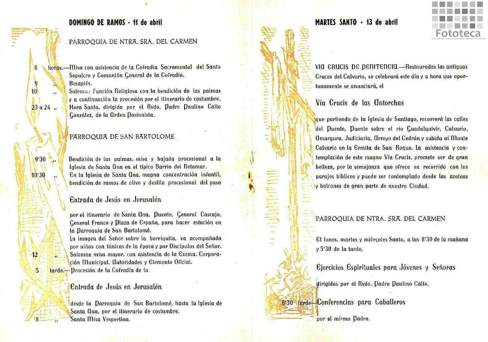 Pasion Por Montoro Libro De Itinerarios De La Semana