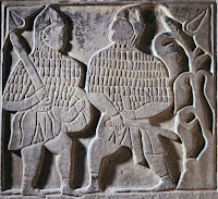 Warrior Relief of Anatolian Seljuks, in Museum of Turkish and Islamic Arts, a carved marble from 13th Century.
