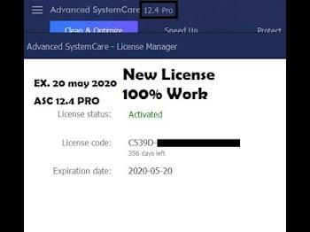 Advanced SystemCare 12.5 PRO | License Key 2019 | [new key ☑️] Expiration Date: 2020-05-20 :365 day