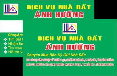 In Card Visit bđs tại khu đô thị Bàu Bàng Lai Uyên Bình Dương