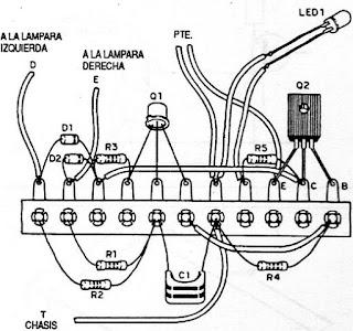 Circuito con método  del  puente de terminales  o regleta.