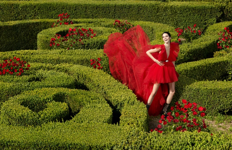 Model Kendall Jenner fronts Giambattista Valli x H&M campaign