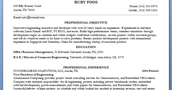 vice president of engineering resume format in word free download