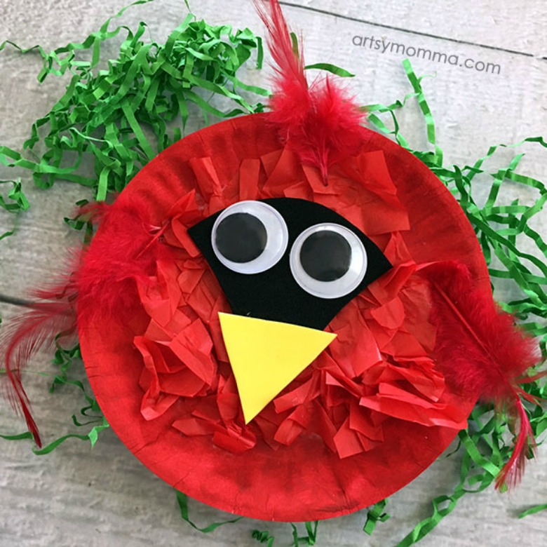 Paper plate animals bird craft