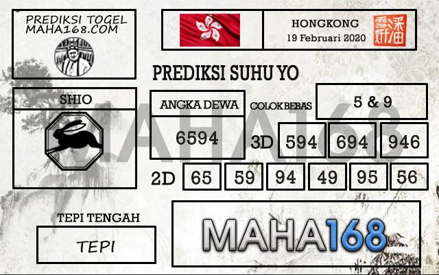 Prediksi Togel JP Hongkong Rabu 19 Feb 2020 - Prediksi Suhu Yo