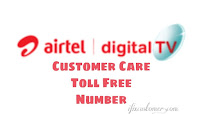 Airtel Digital TV customer care toll free number