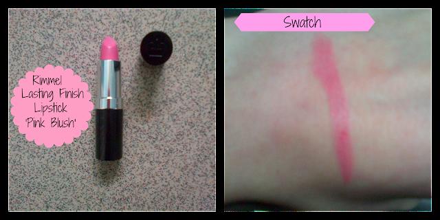 Rimmel Lasting Finish Lipstick Pink Blush, Rimmel Pink Blush Swatch