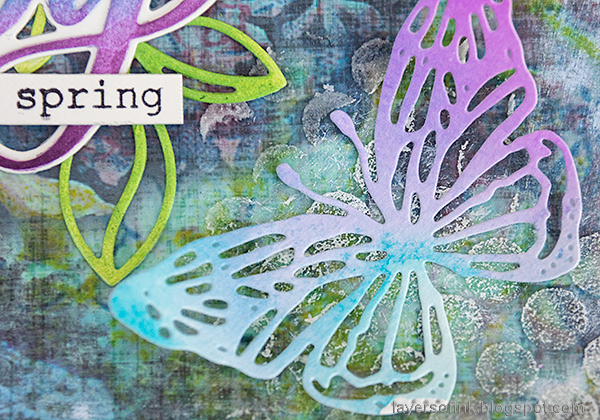 Layers of ink - Spring has sprung scrapbooking layout by Anna-Karin Evaldsson.