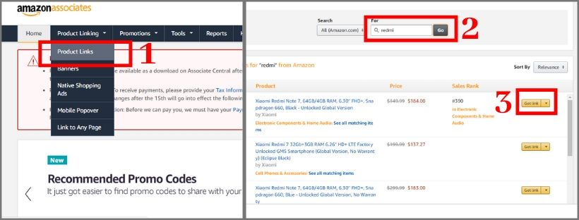 how to share amazon affiliate link