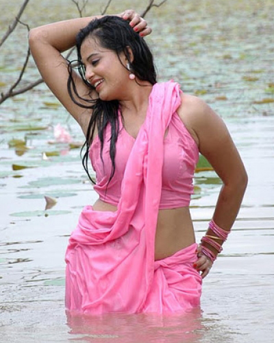 Desi Aunty Navel Show Stills In A River