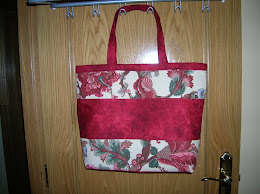 Bolso grande color cereza