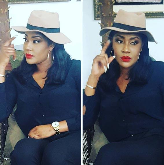 Angela Okorie still slays in cowboy hat despite cheating rumours