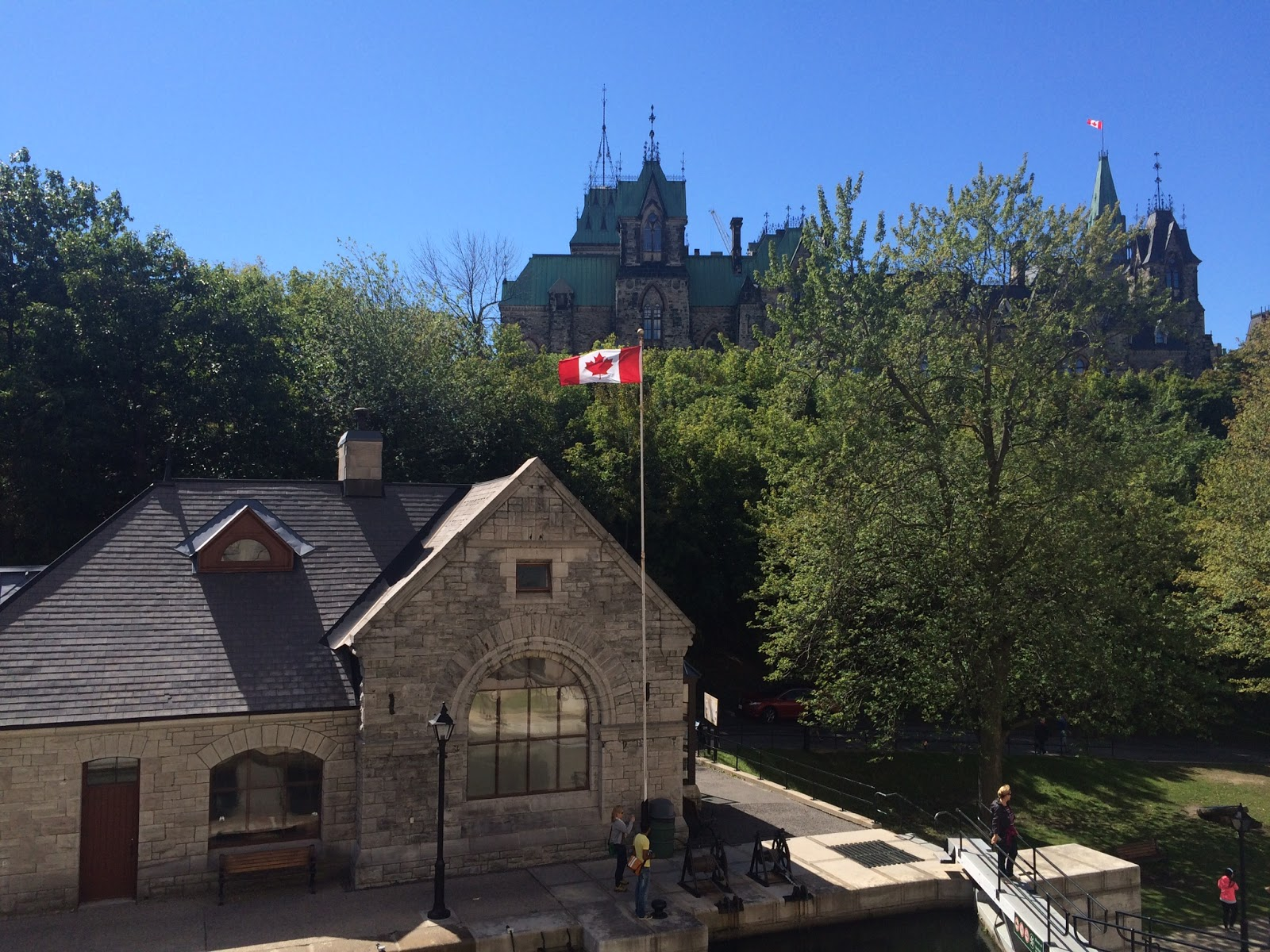 Canada - House with Maple Leaf flag