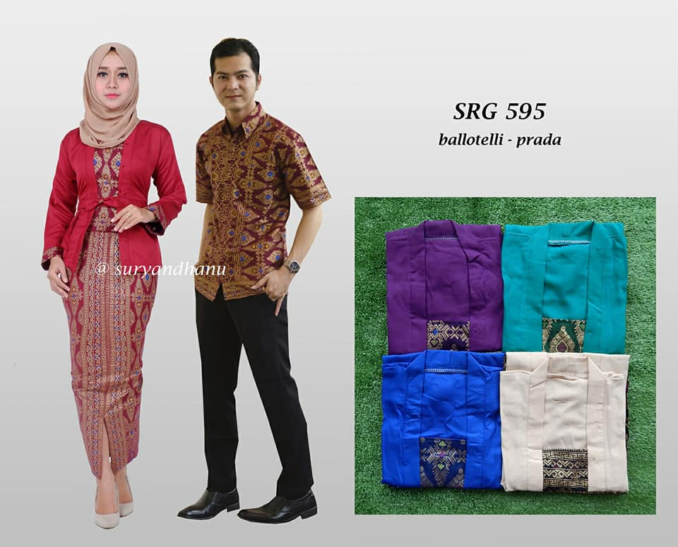 Baju Batik Couple Setelan Rok Span Katun Prada Mix Blus