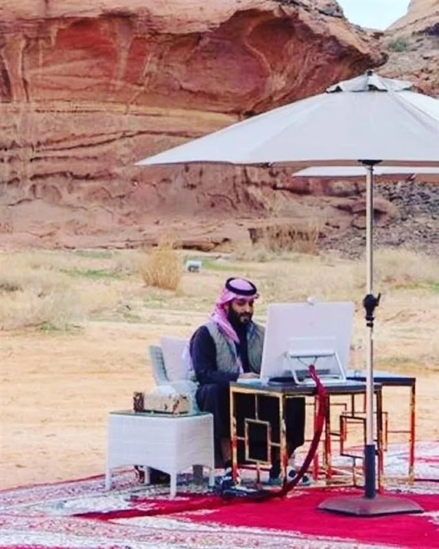 Mohammed bin Salman in the desert steals the hearts of his fans .. What is the story?
