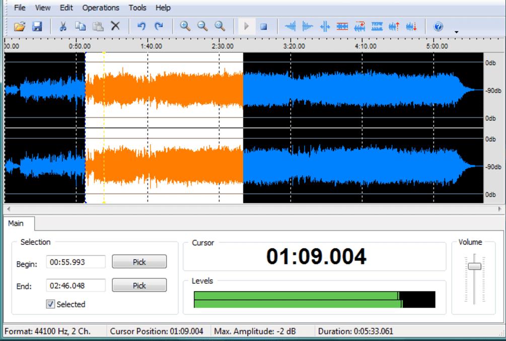 Wave Editor هو برنامج تحرير صوت مجاني وسهل الاستخدام لنظام Windows
