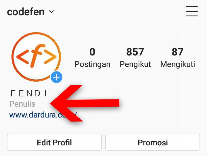 Cara Membuat Tulisan Blog Pribadi Di Profil Instagram Dardura