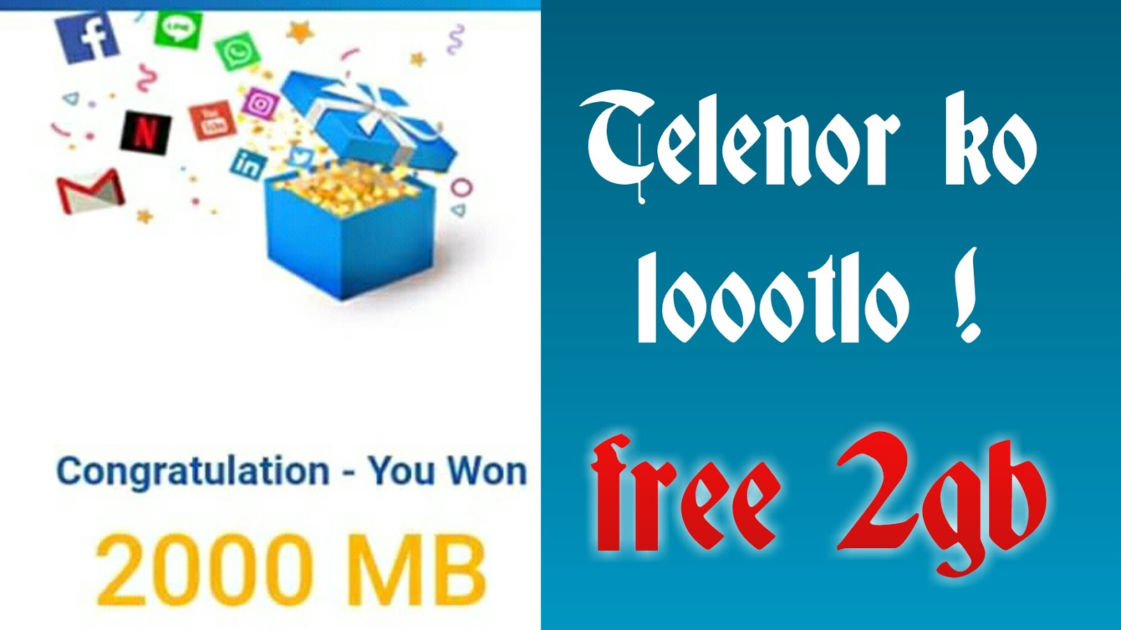 My telenor app today quiz for 2gb free internet? - Touch 2 Gain