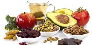 alimentos saludables y los números