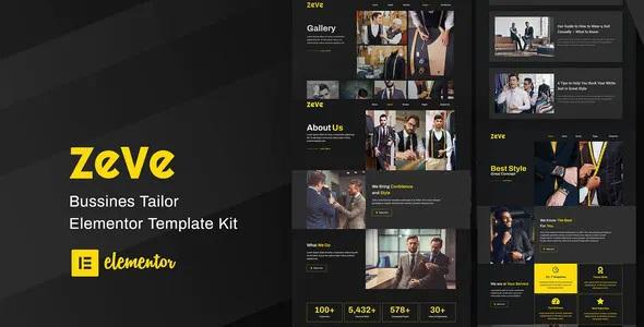 Best Tailor Service Elementor Template Kit