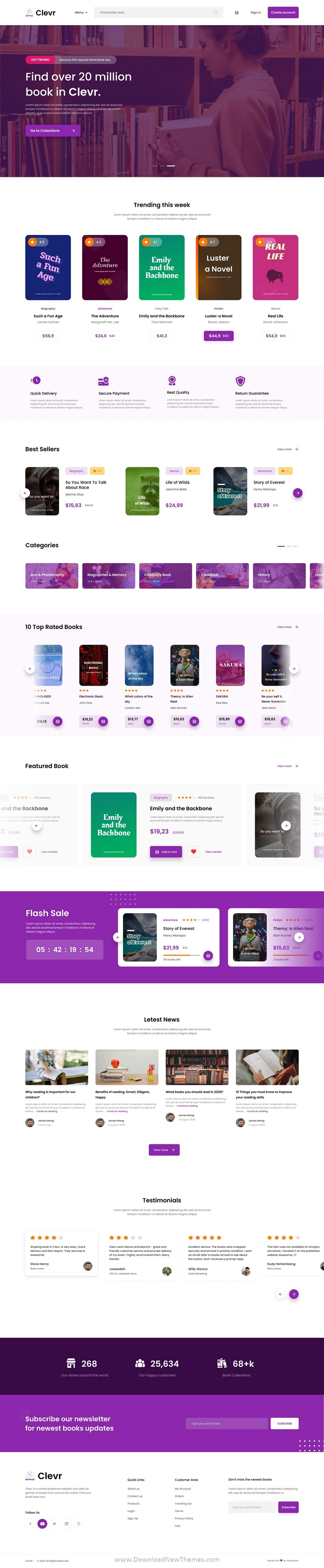 Book Store Ecommerce Website Template