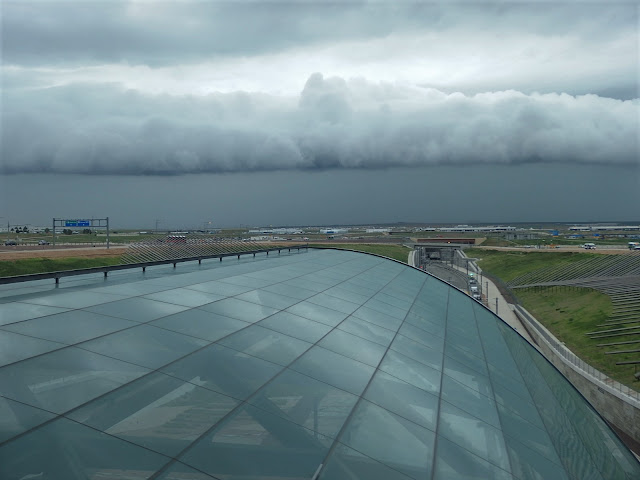 Dramatic skies over Denver airport