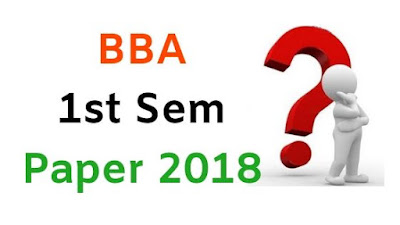 BBA (NS) 1st Sem Question Papers 2018 Mdu