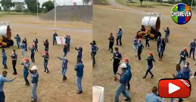 Empleados de SIDOR celebran el colapso de la empresa bailando Jerusalema
