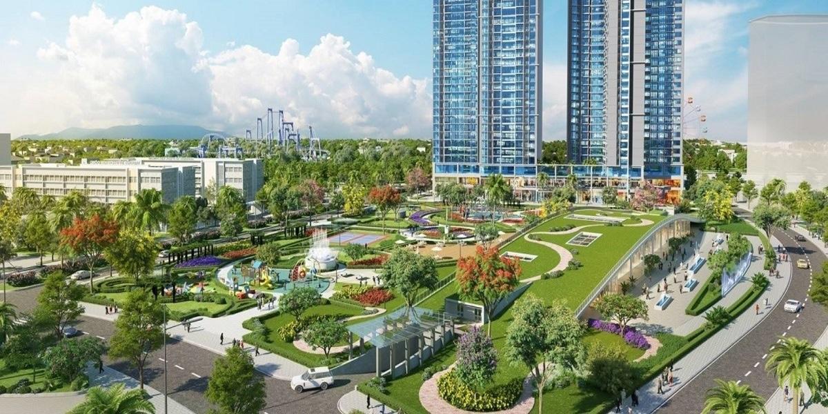 Công viên nội khu diện tích 3.5ha tại dự án Eco Green Sài Gòn
