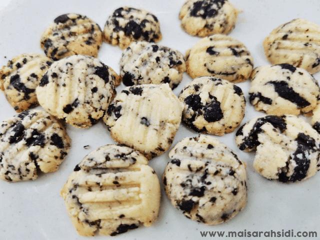 Resepi Biskut Oreo Cheesecake 5 Bahan, Sukatan Cawan
