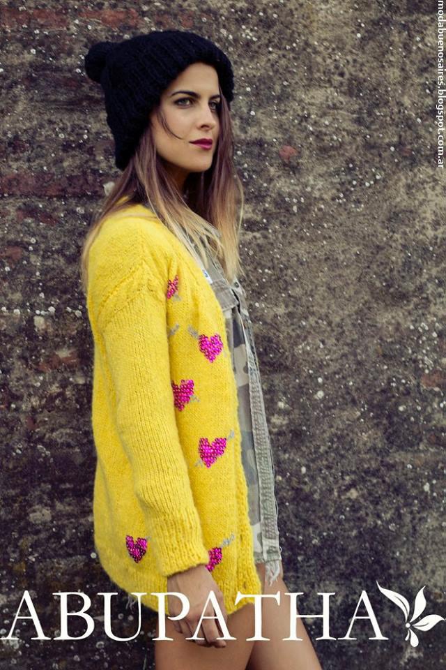 Moda invierno 2016 ropa de mujer tejidos Abupatha. Moda invierno 2016.
