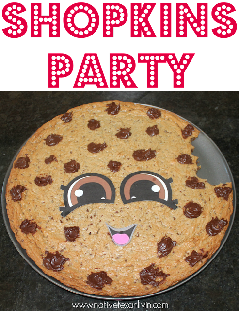 Our Shopkins Party with a Kooky Cookie Cookie cake & easy Shopkins cookies with royal icing.