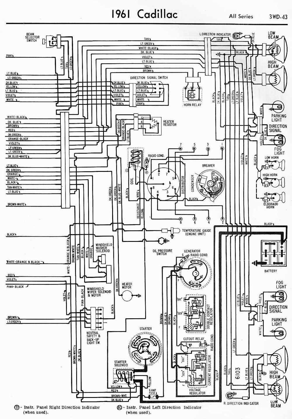 Wiring Diagrams Schematics 1961 Cadillac All Series Part 2
