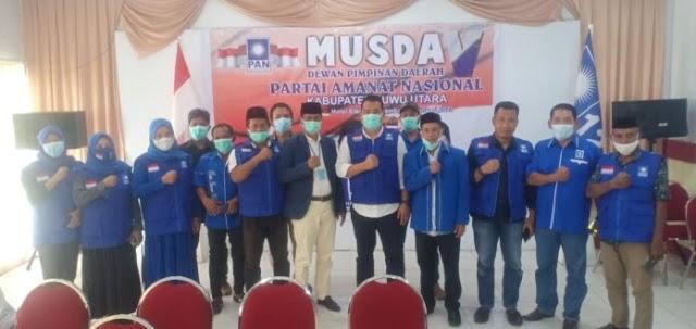 Karemuddin Terpilih Kembali Secara Aklamasi Di Musda V DPD PAN Luwu Utara