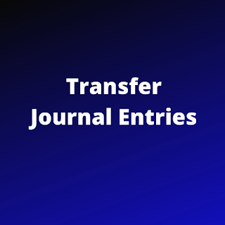 transfer journal entries