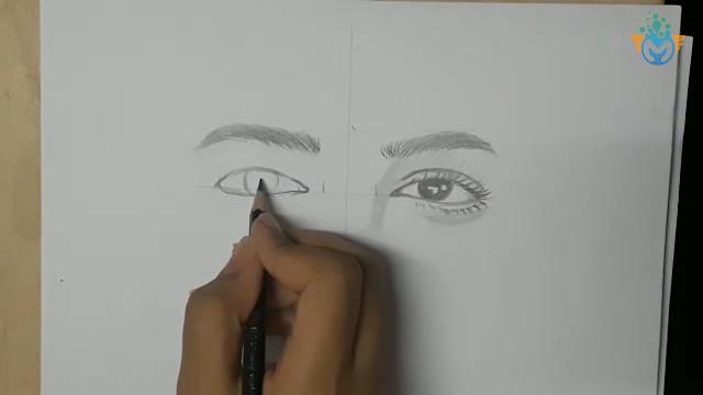 تعليم اسهل طريقة لرسم العيون للمبتدئين
